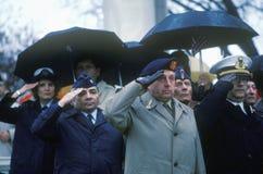 Veterans Saluting Stock Photos