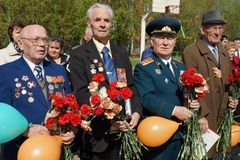 Veterans of the Second World War Stock Image
