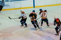 Veterans of the sport played in hockey Stock Photography