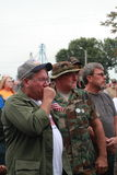Veterans tear up at Save Our Cross Rally, Knoxville, Iowa Royalty Free Stock Images