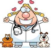 Veterinário Hug dos desenhos animados ilustração royalty free