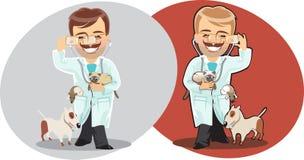veterinär- man Fotografering för Bildbyråer