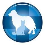 Veterinär Medical Symbol Button stock illustrationer