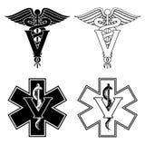 Veterinär Medical Symbols Arkivfoton