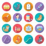 Veterinär- omsorgsymbolsuppsättning royaltyfri illustrationer