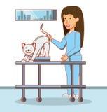 Veterinair in aandachtsbureau vector illustratie