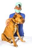 Veterinair with dog Royalty Free Stock Photo