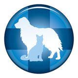 Veterinair Medical Symbol Button Stock Afbeeldingen