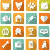 Veterinaire geplaatste pictogrammen Royalty-vrije Stock Foto