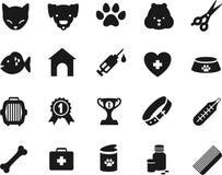 Veterinaire geplaatste pictogrammen Stock Afbeelding