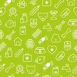 Veterinaire pictogrammen naadloze achtergrond in vlakke stijl Royalty-vrije Stock Foto's