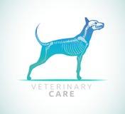 Veterinaire zorg - hondzorg stock illustratie