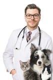 Veterinarian with animals Stock Image