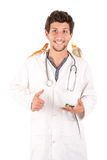 Veterinarian with animals Stock Image