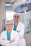 Veterinarian and assistant in animal clinic Royalty Free Stock Photography