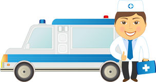 Veterinarian and car ambulance Royalty Free Stock Photo