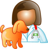 Veterinarian career icon or sy Royalty Free Stock Photos