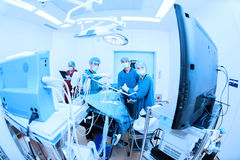 Veterinarian doctor in operation room for laparoscopic surgical Royalty Free Stock Image