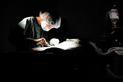Veterinarian doctor in operation room for surgical Royalty Free Stock Images