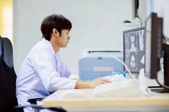 Veterinarian doctor working in MRI room Stock Photography