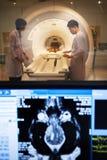 Veterinarian doctor working in MRI scanner room Stock Photography
