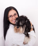 Veterinarian with dog Royalty Free Stock Photo