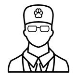 Veterinarian icon, outline style Royalty Free Stock Photography