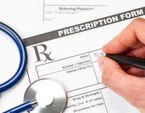 Veterinarian prescription form Stock Images