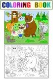 Veterinarian treats animals in the forest vector illustration Stock Image