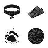 Veterinarian, war and or web icon in black style. travel, space icons in set collection. Royalty Free Stock Photos