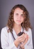Veterinario de la mujer joven Foto de archivo
