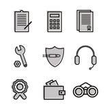 Veterinario de los iconos planos para comercial, económicos, temas de la seguridad Utilizado en el sitio, para los logotipos stock de ilustración