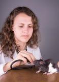 Veterinario della giovane donna Fotografie Stock Libere da Diritti