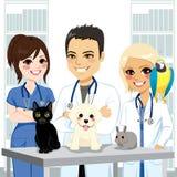 Veterinario Team Pets stock de ilustración