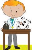 Veterinario y perro stock de ilustración