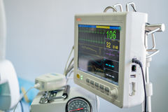 Veterinary anesthesia machine. Control panel of modern veterinary anesthesia machine Royalty Free Stock Photography