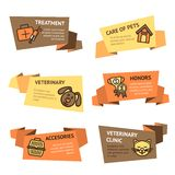 Veterinary Banner Set Royalty Free Stock Photo