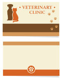 Veterinary business card Royalty Free Stock Photography