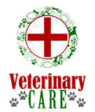 Veterinary Care Red Green Royalty Free Stock Photography