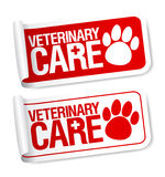 Veterinary care stickers. Royalty Free Stock Photography