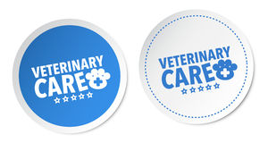 Veterinary care stickers Stock Photo