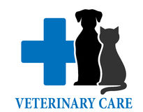 Veterinary care symbol Royalty Free Stock Images