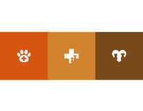 Veterinary care symbols Royalty Free Stock Images