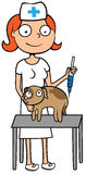 Veterinary care vet doctor or nurse Stock Images