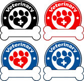 Veterinary Circle Labels Design. Collection Set Stock Images