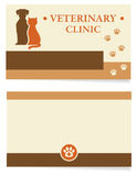 Veterinary clinic business card Stock Photo