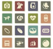 Veterinary clinic icon set. Veterinary clinic  icons for user interface design Stock Image