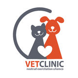 Veterinary Clinic logo with the image of pet. Stock Photography