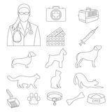 Veterinary clinic set with dog and cat and laboratory equipment. Veterinary clinic collection with dog and cat and laboratory equipment Royalty Free Stock Images