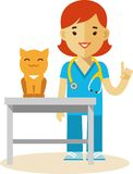 Veterinary doctor and cat Stock Photos